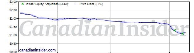 Public market insider buying at Horizon North Logistics (HNL